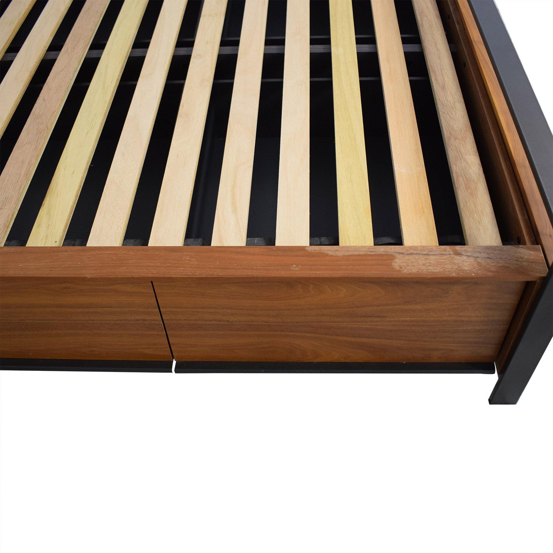 Crate & Barrel Crate & Barrel Queen Storage Bed price