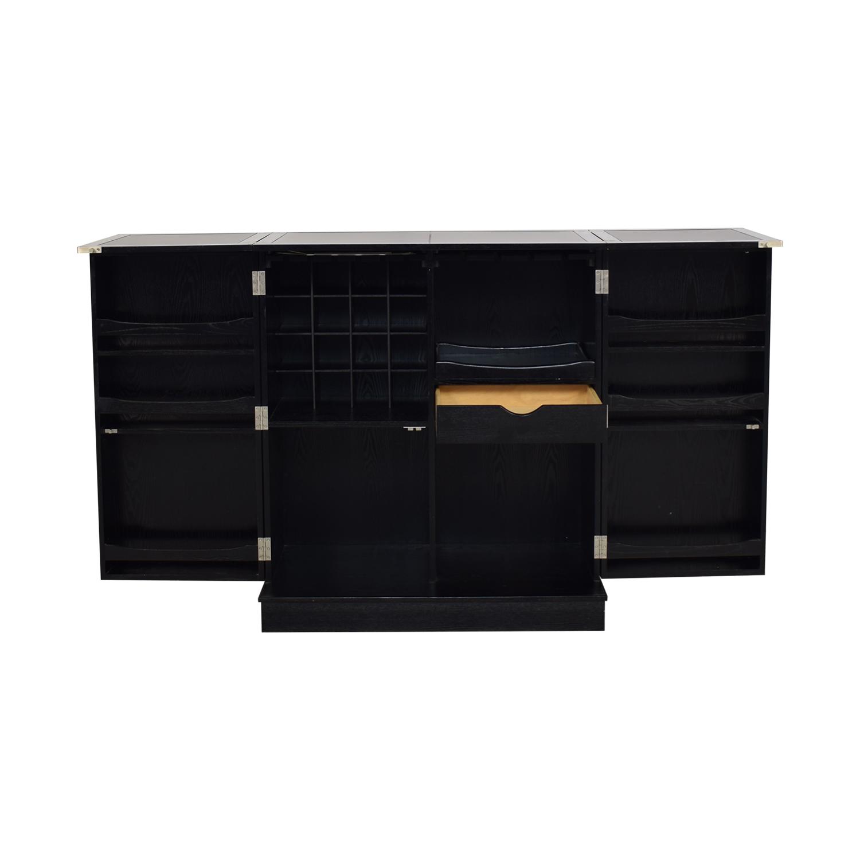 Crate & Barrel Steamer Bar Cabinet / Storage
