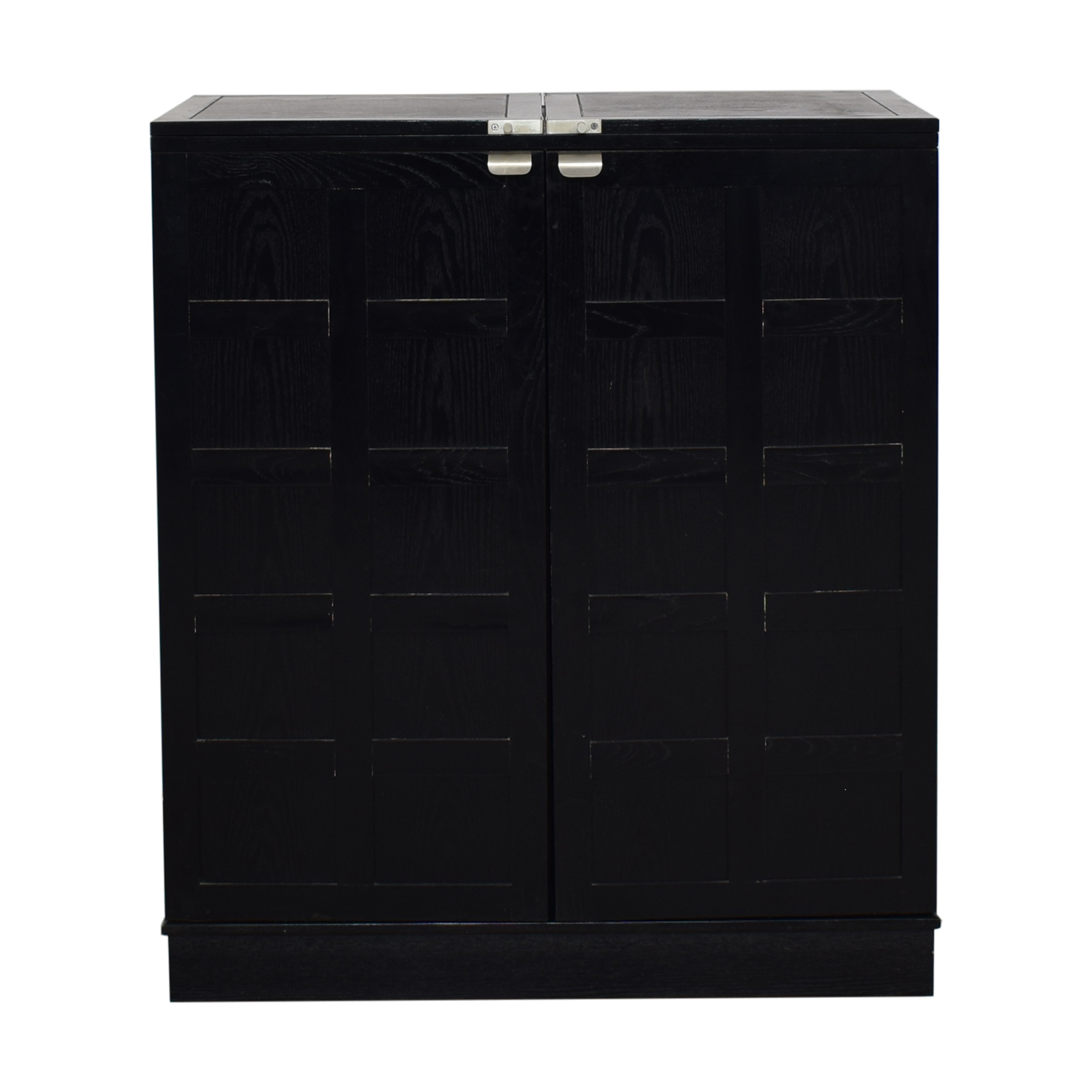 Crate & Barrel Steamer Bar Cabinet sale