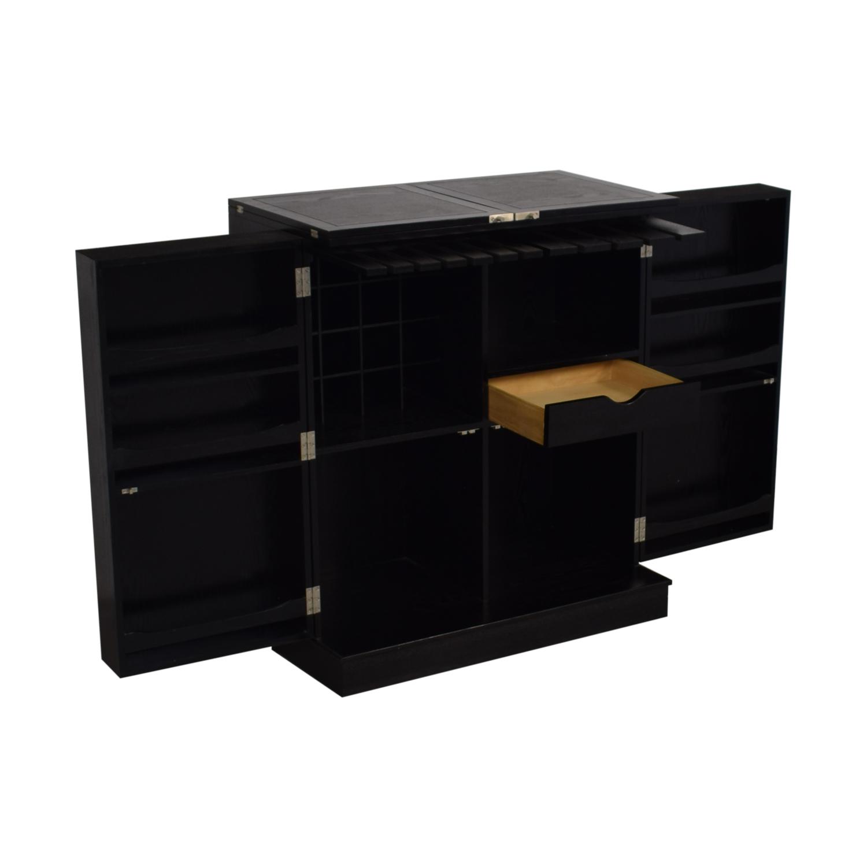 buy Crate & Barrel Steamer Bar Cabinet Crate & Barrel