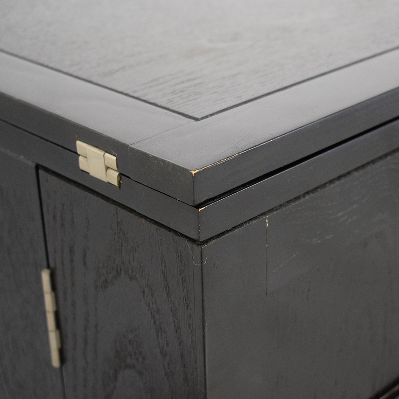 Crate & Barrel Crate & Barrel Steamer Bar Cabinet discount