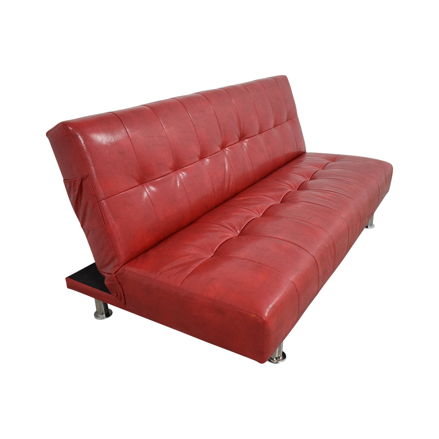 Awesome 75 Off Macys Macys Red Faux Leather Sofa Futon Sofas Theyellowbook Wood Chair Design Ideas Theyellowbookinfo