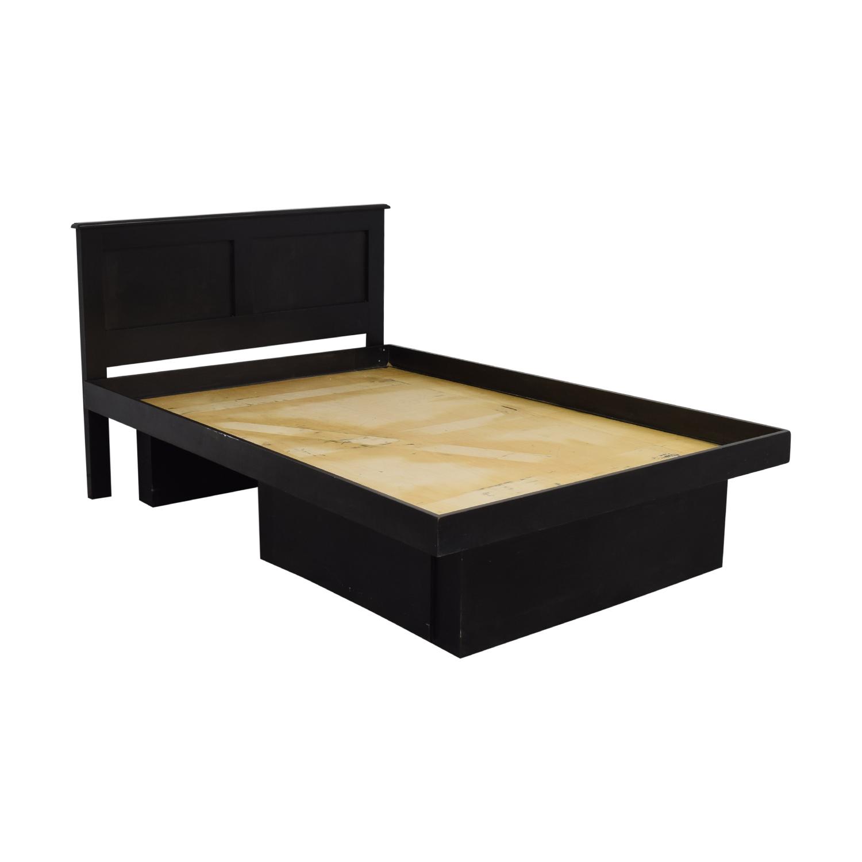 shop Gothic Cabinet Craft Full Platform Bed with Drawers Gothic Cabinet Craft Bed Frames