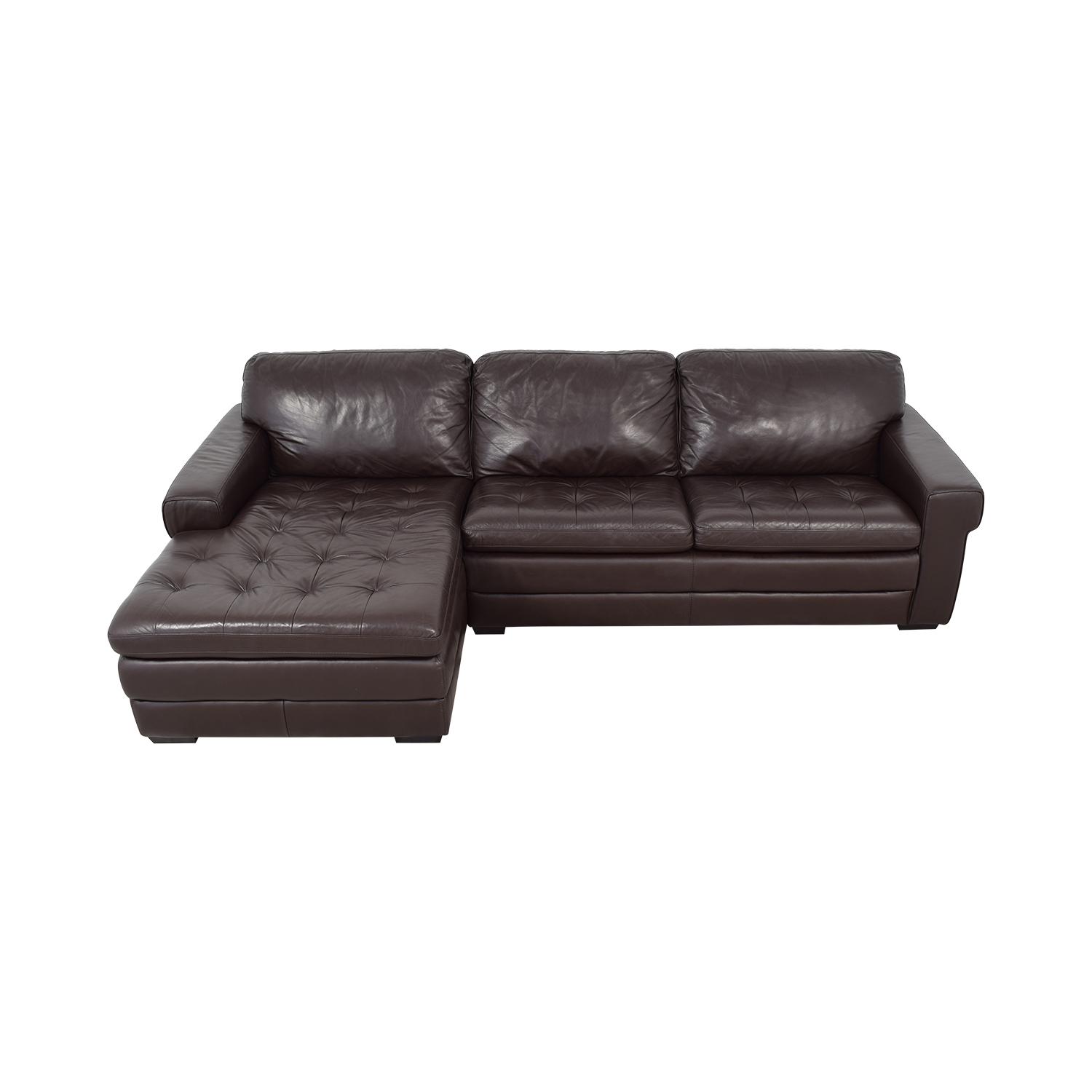 Havertys Havertys Chaise Sectional Sofa for sale