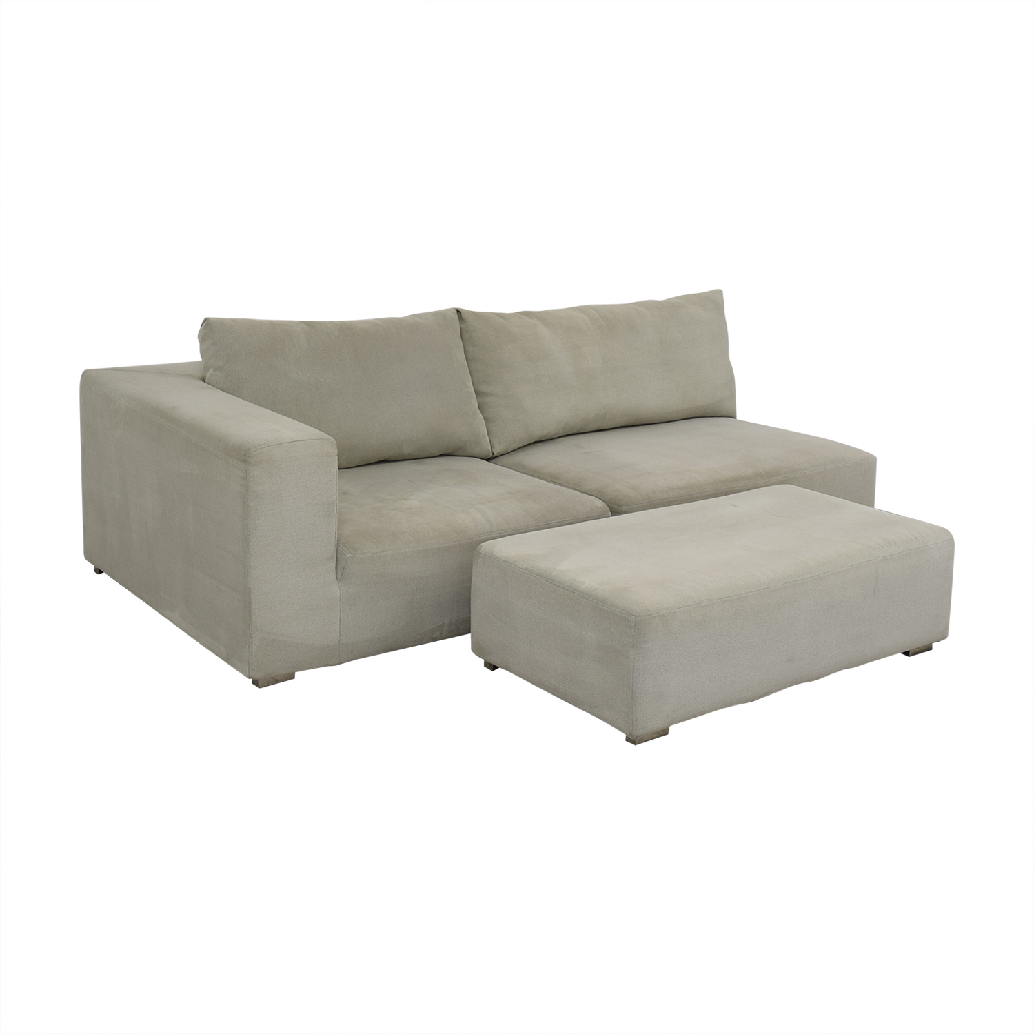69% OFF - Chaise Sofa with Ottoman / Sofas