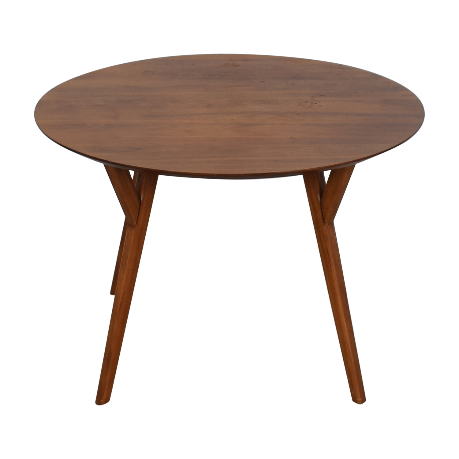 West Elm West Elm Round Dining Table brown