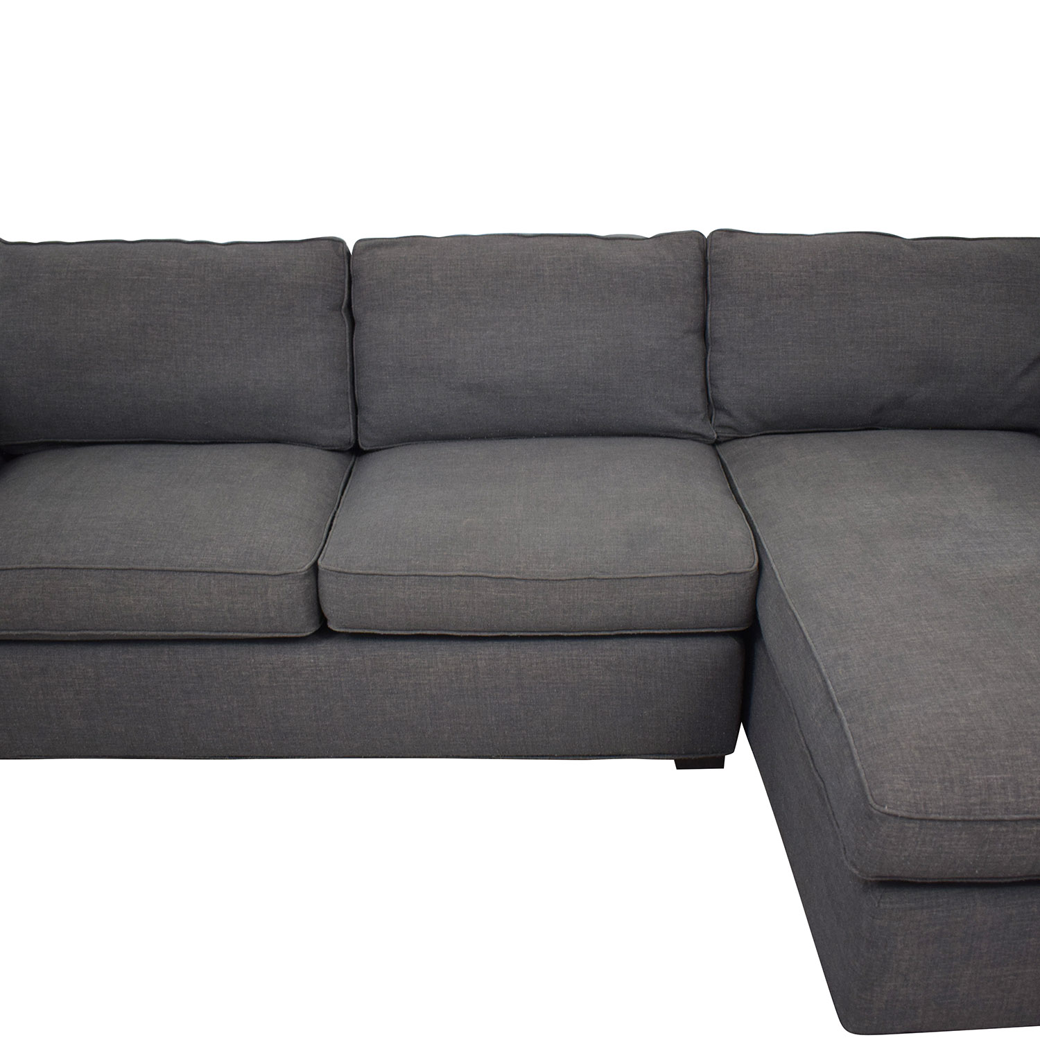 buy Crate & Barrel Two Piece Sectional Sofa Crate & Barrel Sectionals