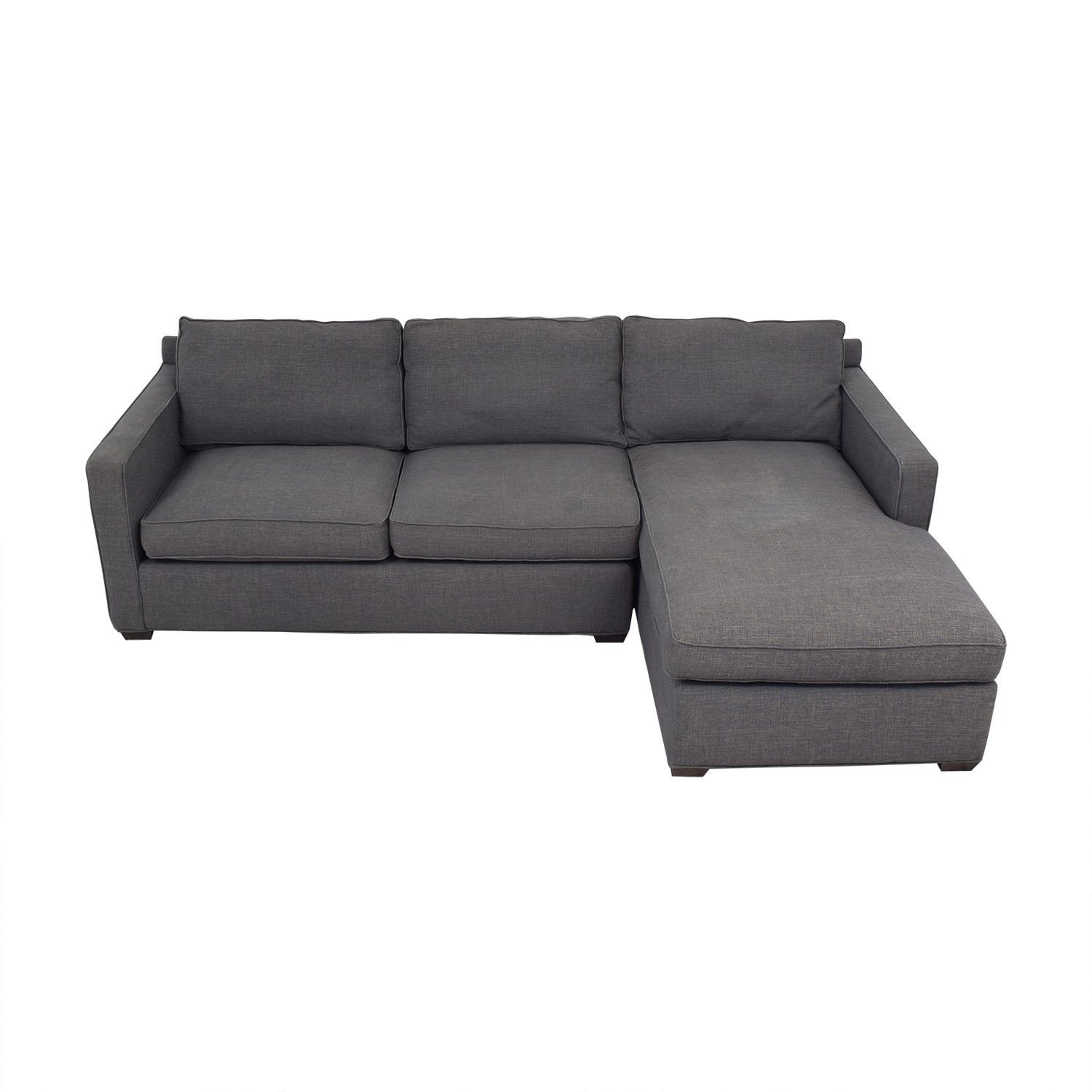 shop Crate & Barrel Two Piece Sectional Sofa Crate & Barrel Sofas
