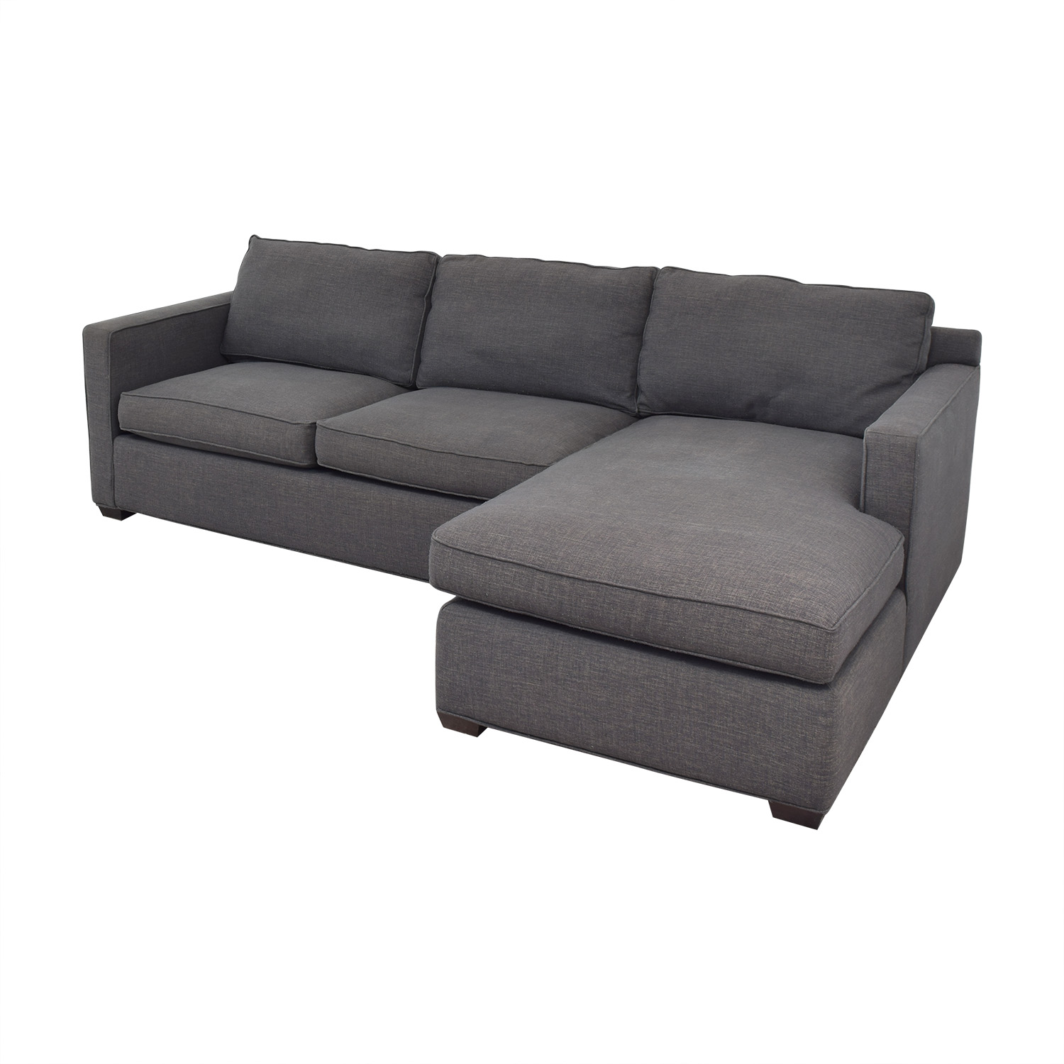 buy Crate & Barrel Two Piece Sectional Sofa Crate & Barrel Sofas