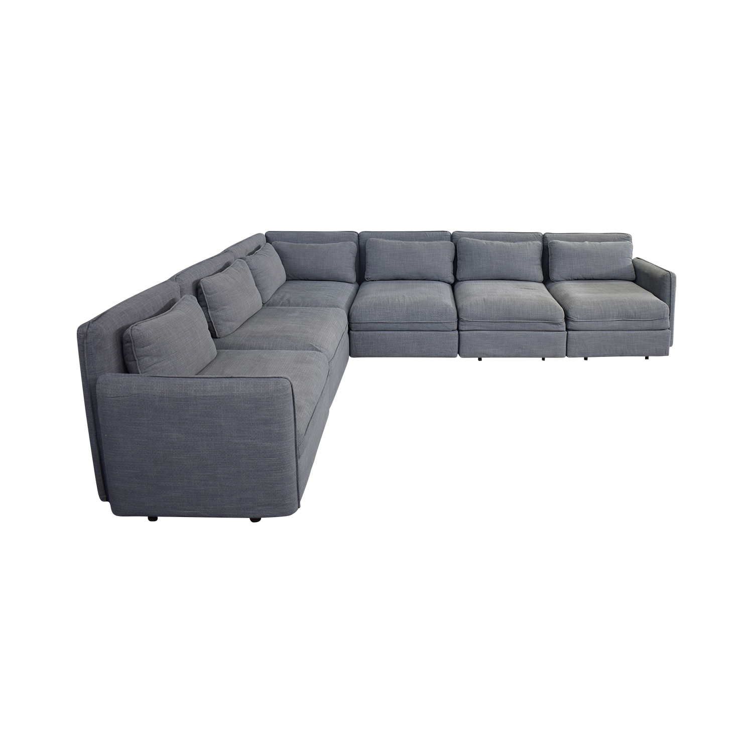 IKEA Ikea Six Piece Sectional Sleeper Sofa grey