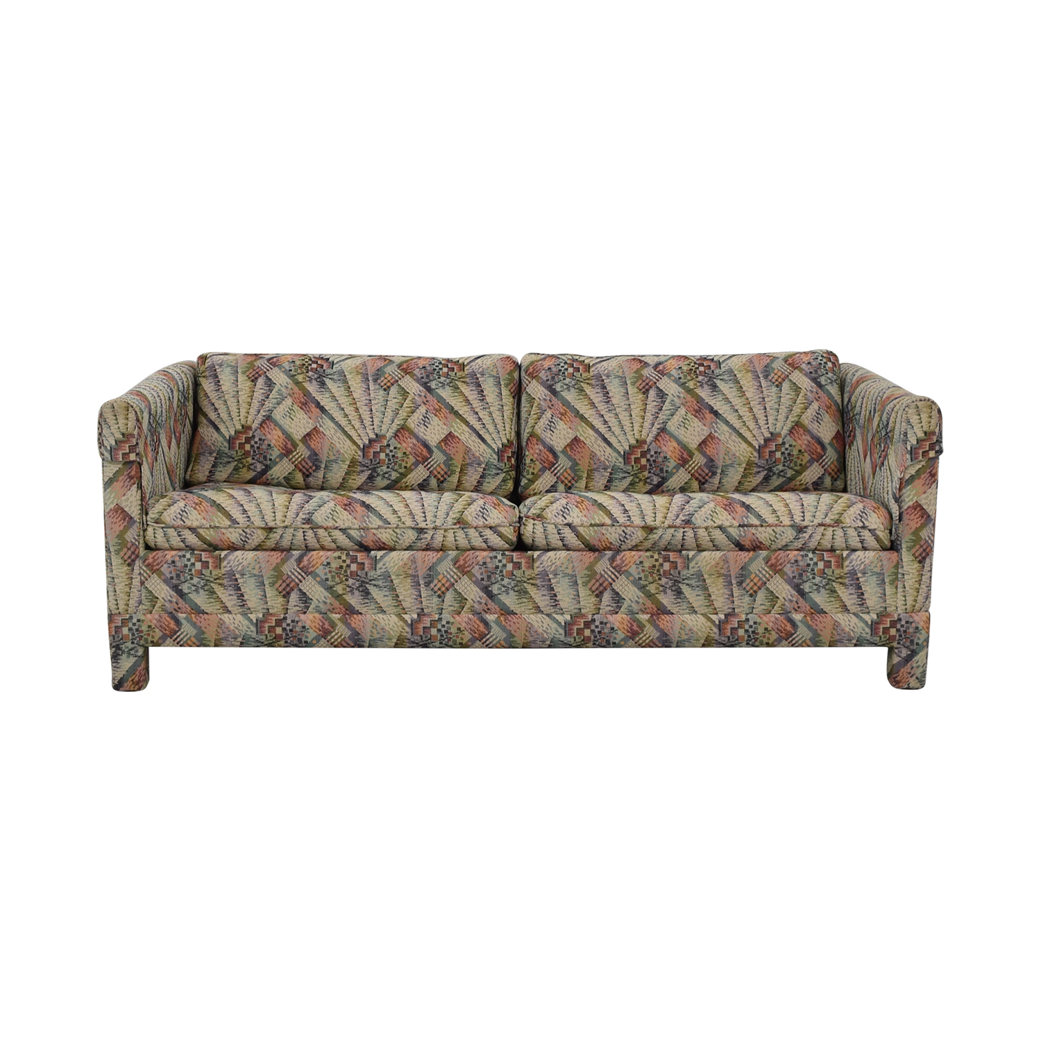 shop Mittman Patterned Queen Sleeper Sofa Lewis Mittman Sofa Beds