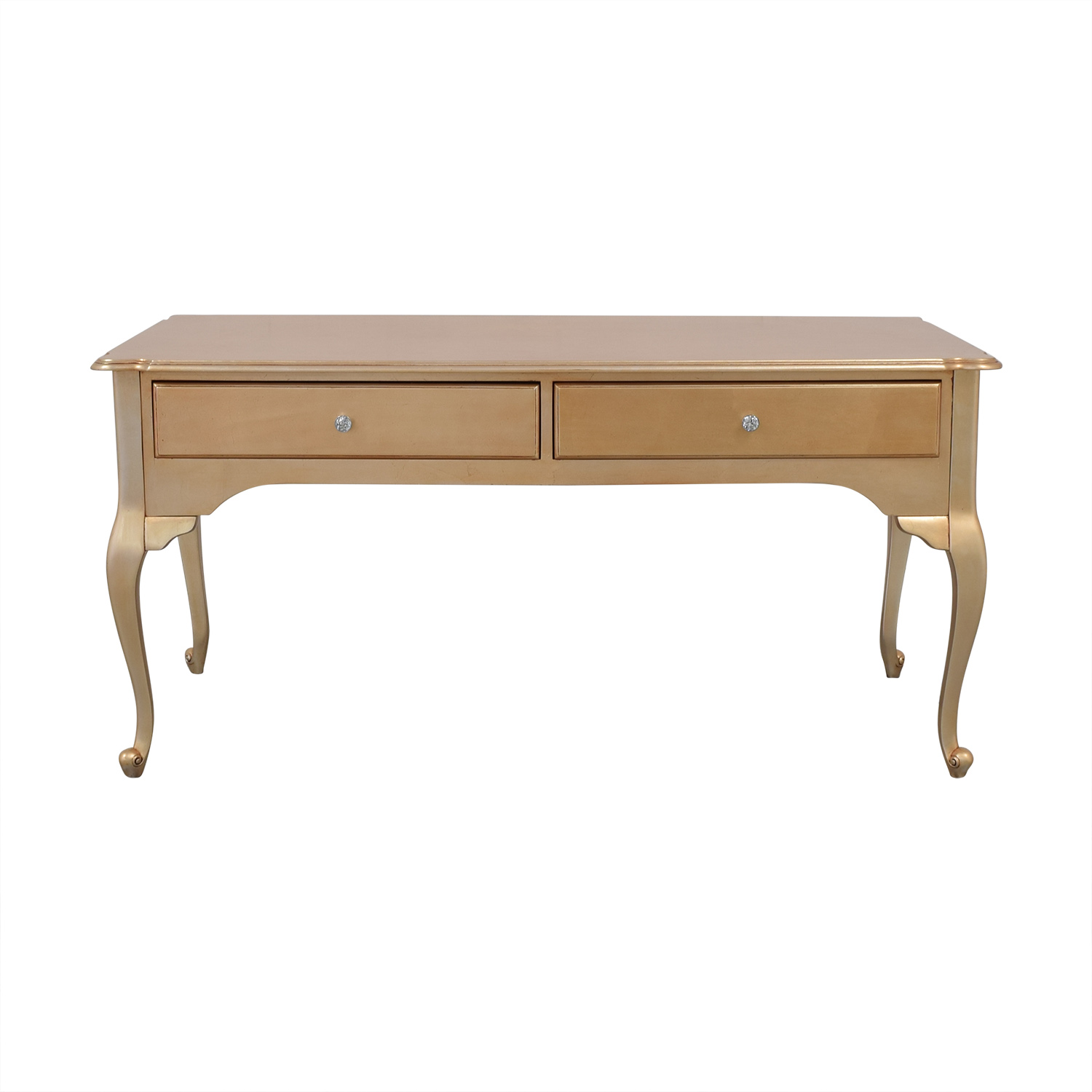 Etsy Two Drawer Desk gold