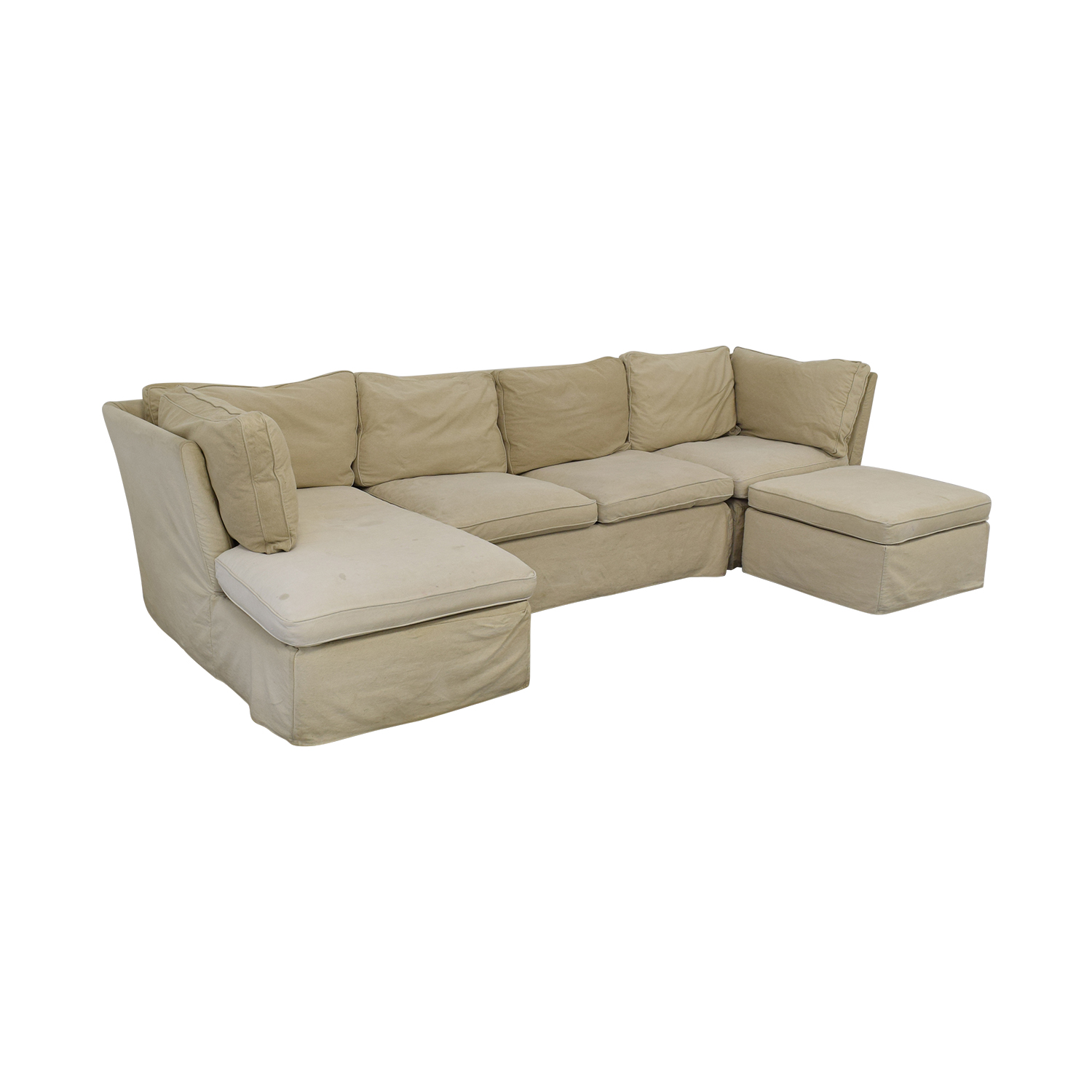 ABC Carpet & Home ABC Carpet & Home Sectional with Ottoman coupon