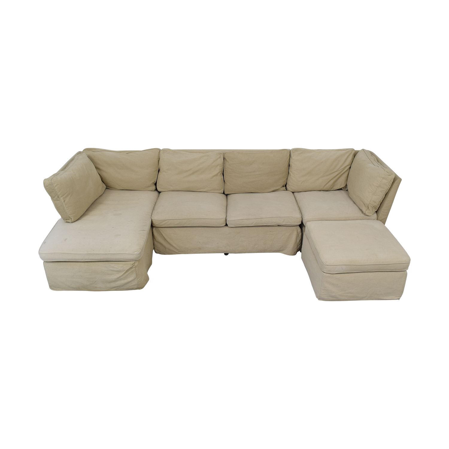 ABC Carpet & Home Sectional with Ottoman / Sofas