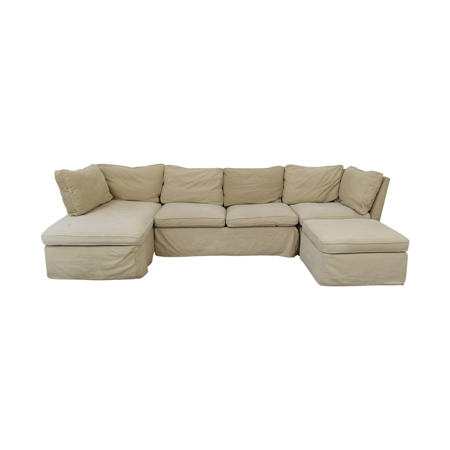 shop ABC Carpet & Home Sectional with Ottoman ABC Carpet & Home