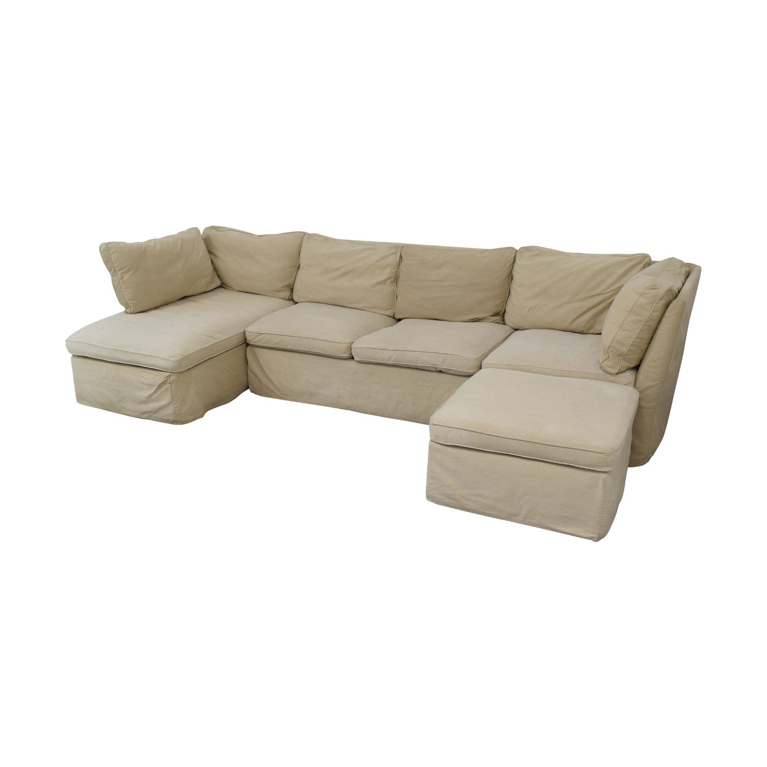 ABC Carpet & Home Sectional with Ottoman ABC Carpet & Home