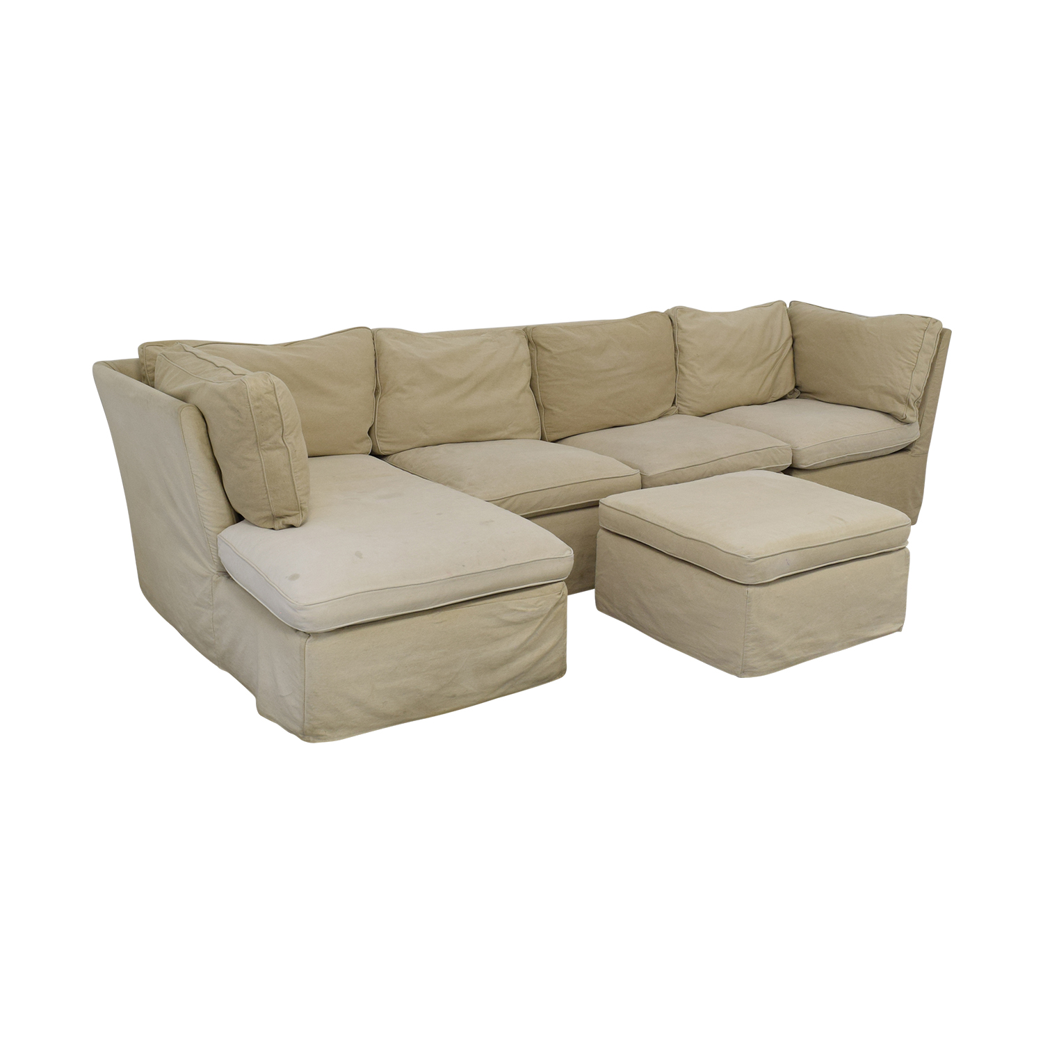 ABC Carpet & Home ABC Carpet & Home Sectional with Ottoman