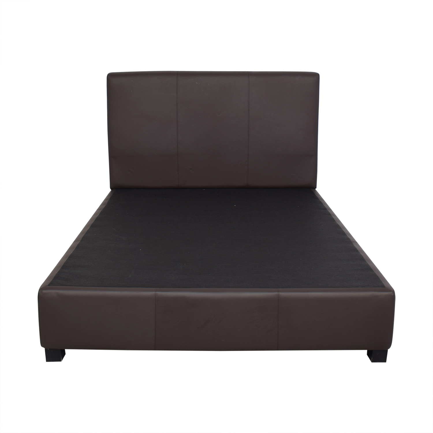 buy Brown Platform Queen Bed  Beds