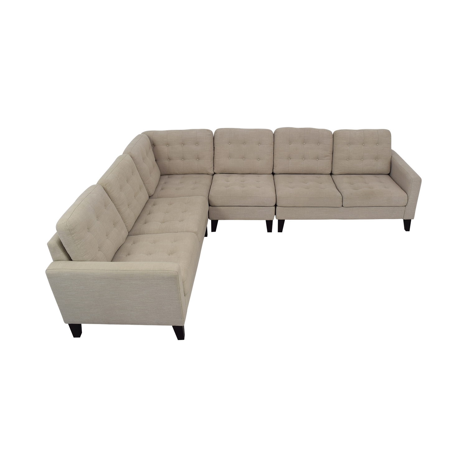 Pier 1 Nyle L-Shaped Sectional Sofa / Sectionals