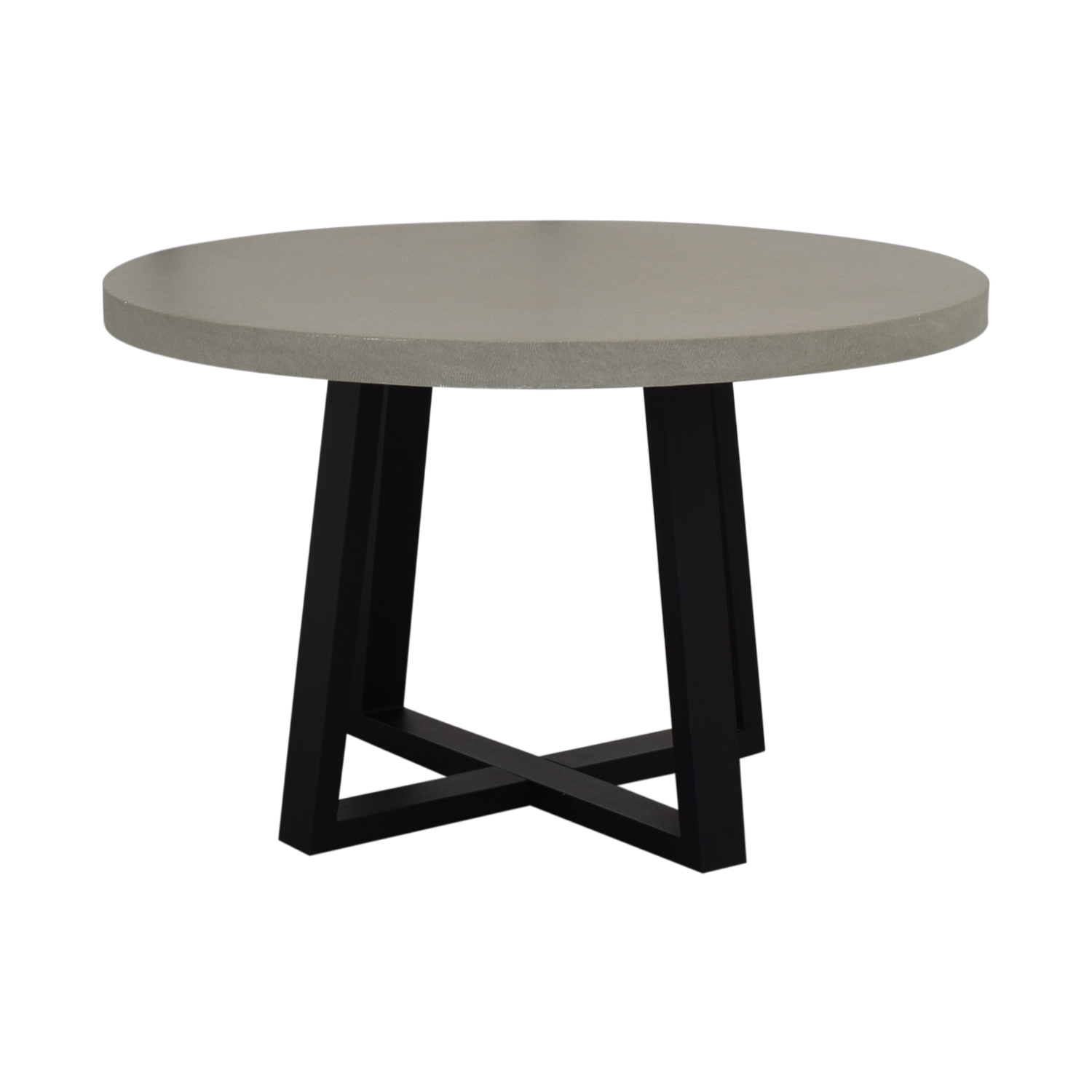 West Elm West Elm Round Slab Outdoor Dining Table for sale