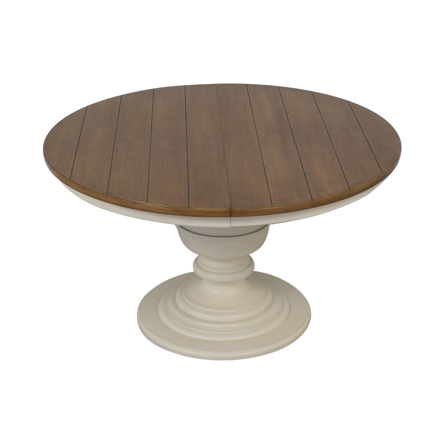 71% OFF - Macy\'s Macy\'s Sag Harbor Expandable Round Dining Pedestal Table /  Tables
