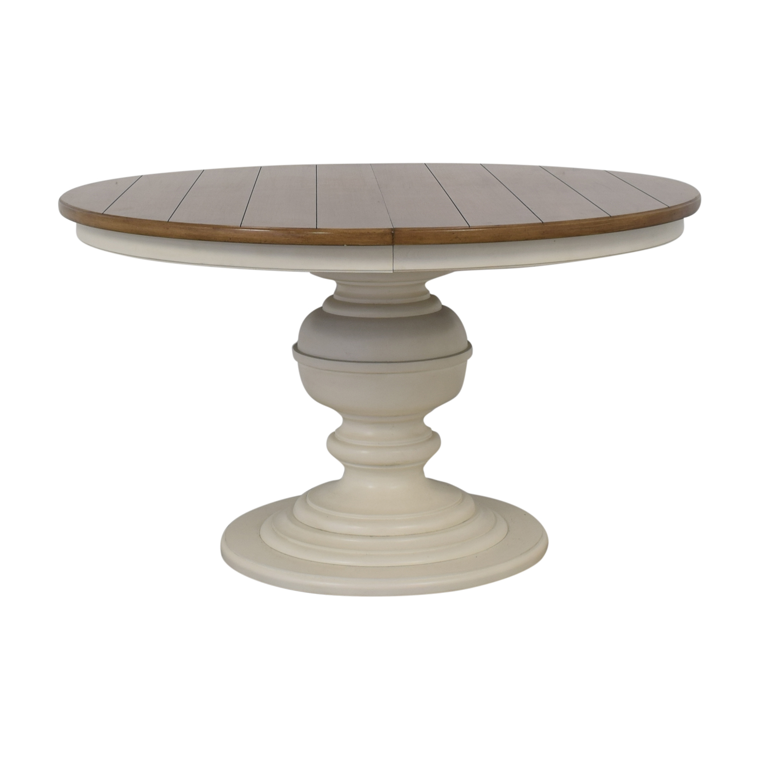 Macy's Macy's Sag Harbor Expandable Round Dining Pedestal Table Dinner Tables