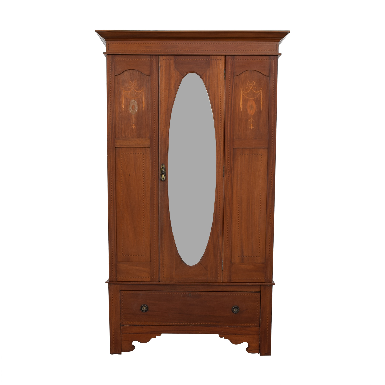 ABC Carpet & Home ABC Carpet & Home Armoire with Mirror Storage