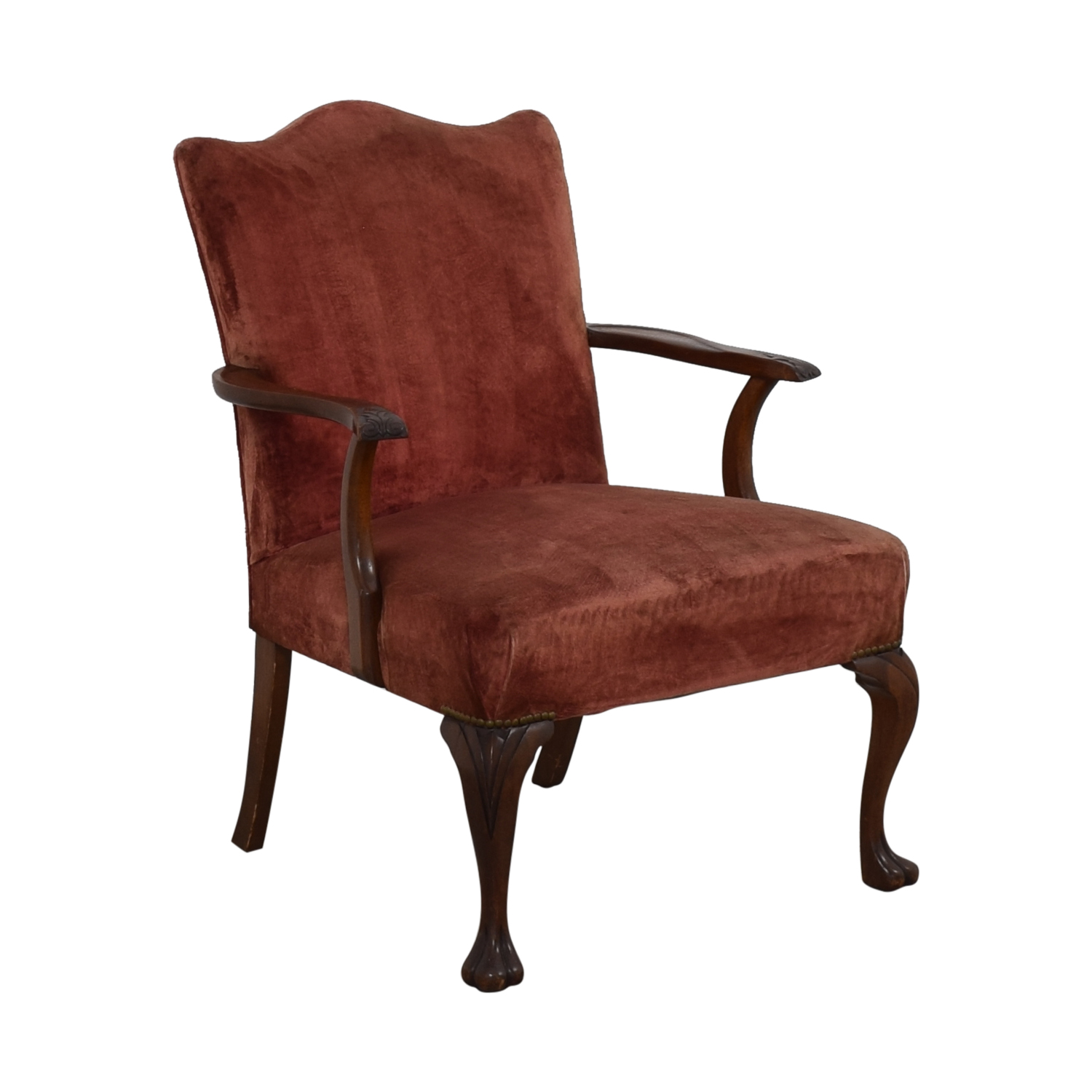 Antique Curved Back Armchair for sale