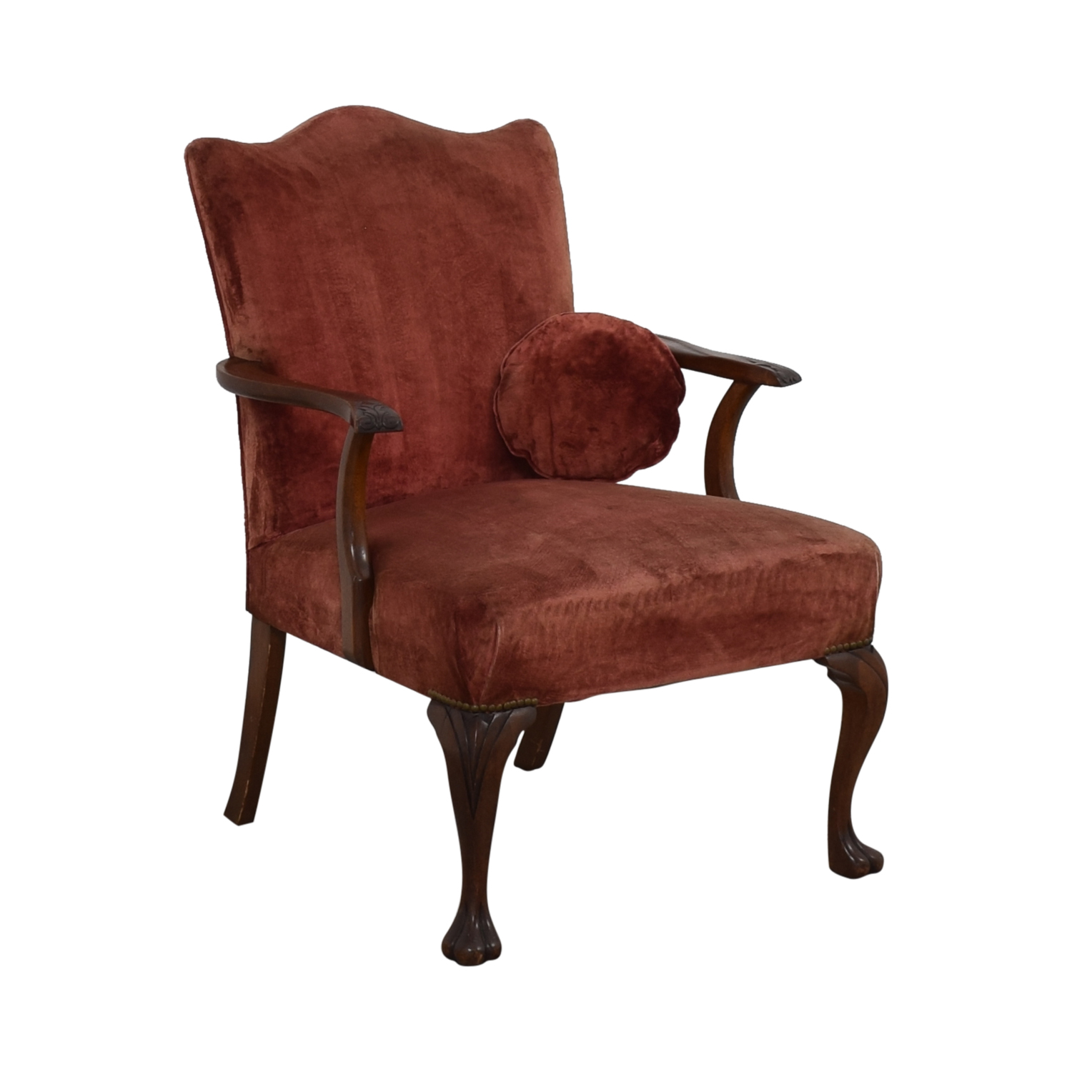 Antique Curved Back Armchair Chairs