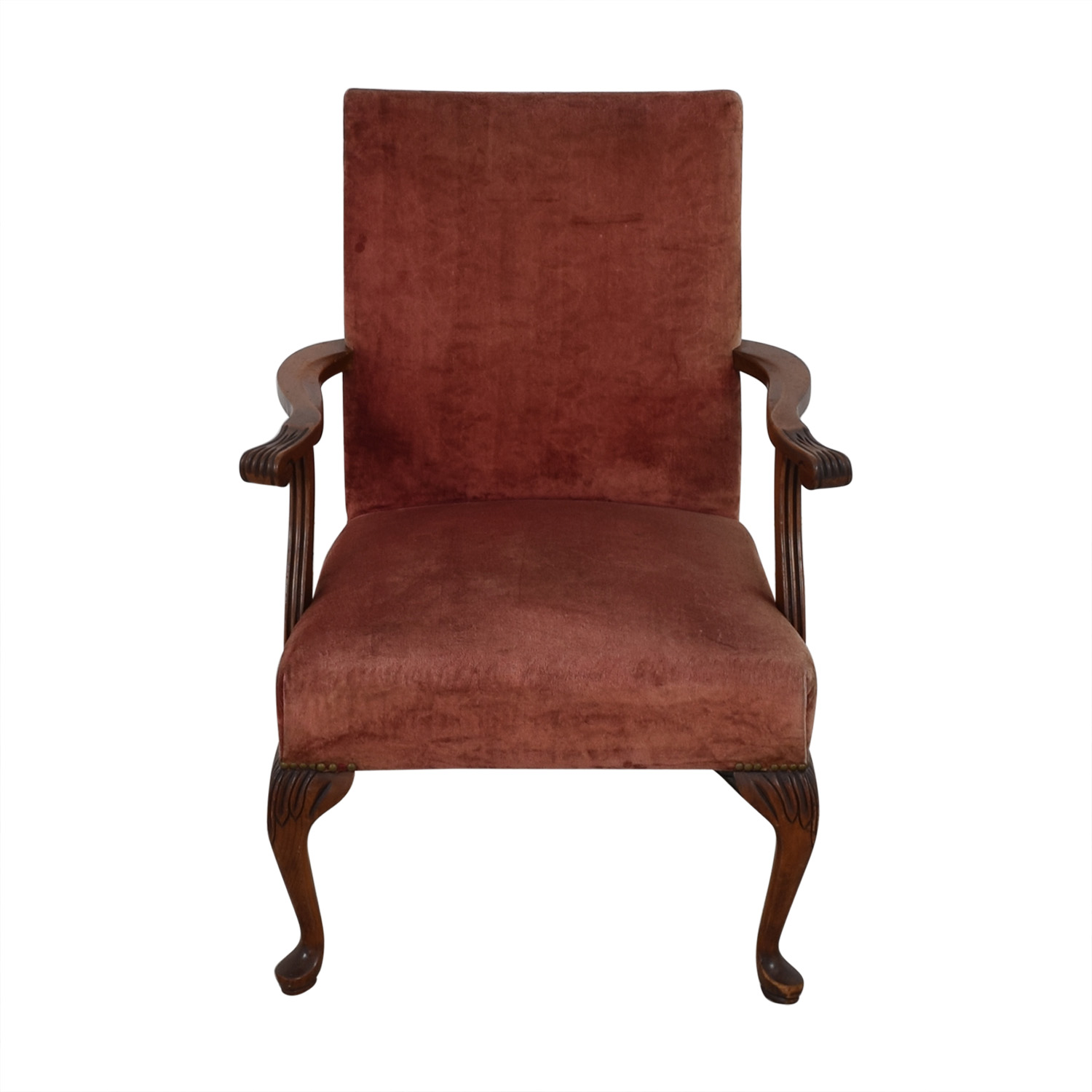 Antique Tall Back Armchair Accent Chairs