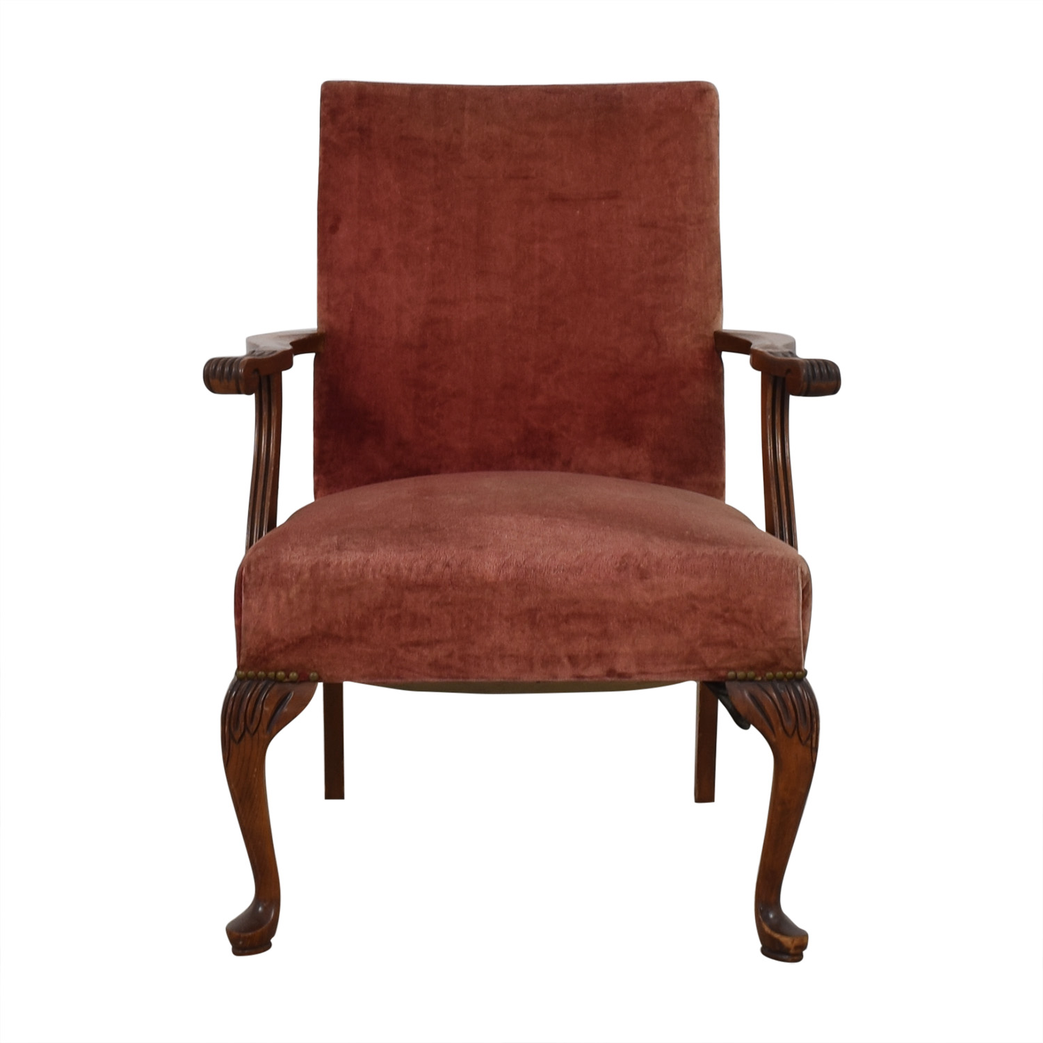 Antique Tall Back Armchair