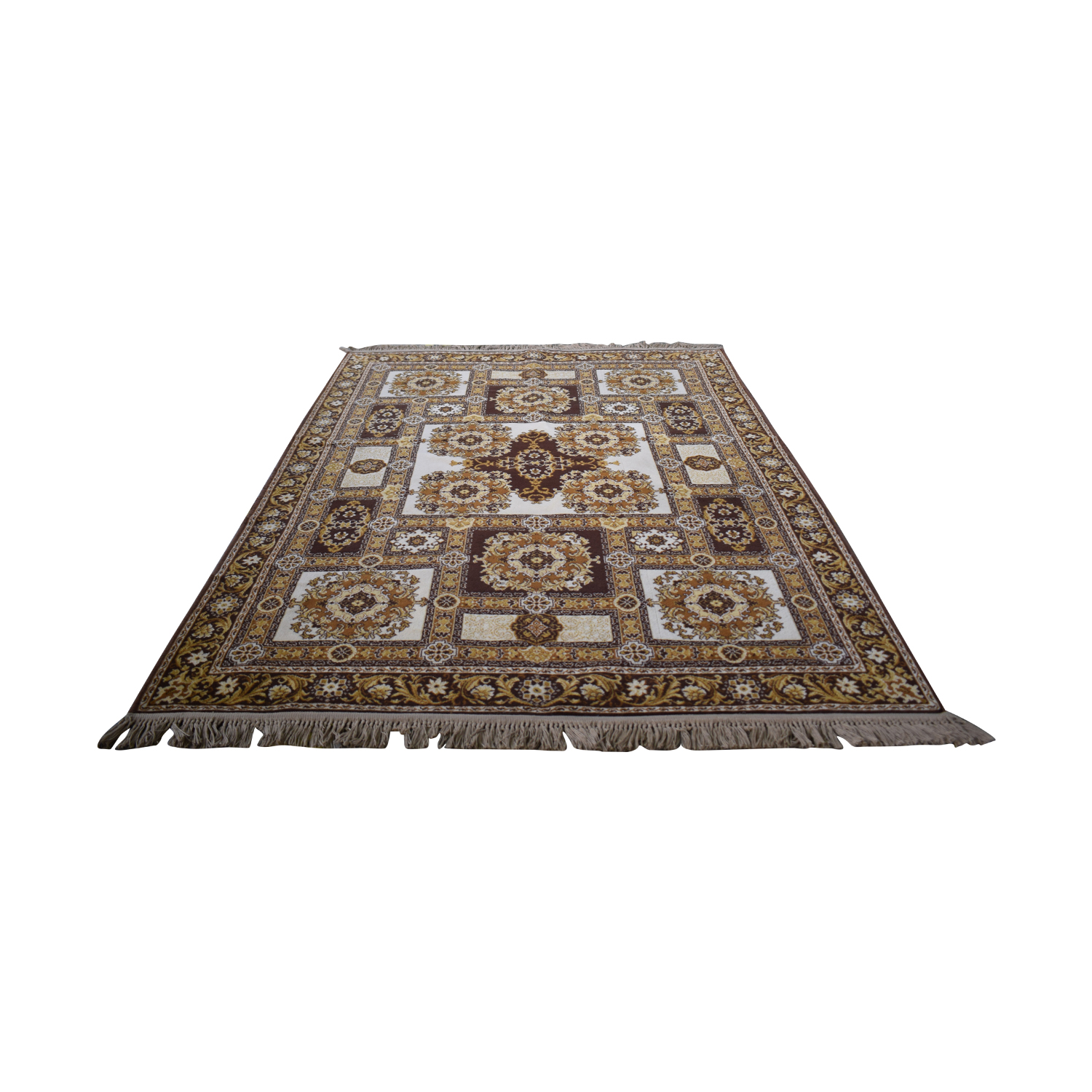 Patterned Wool Rug for sale