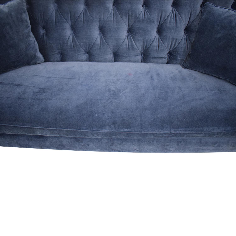 Horchow Horchow Blue Sofa Blue