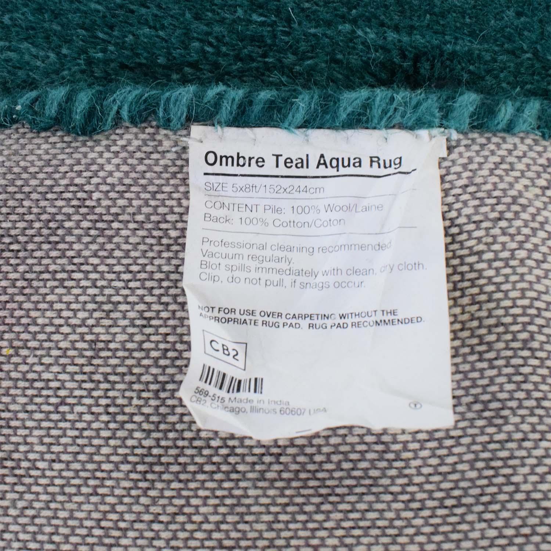 CB2 CB2 Ombre Teal Aqua Rug used