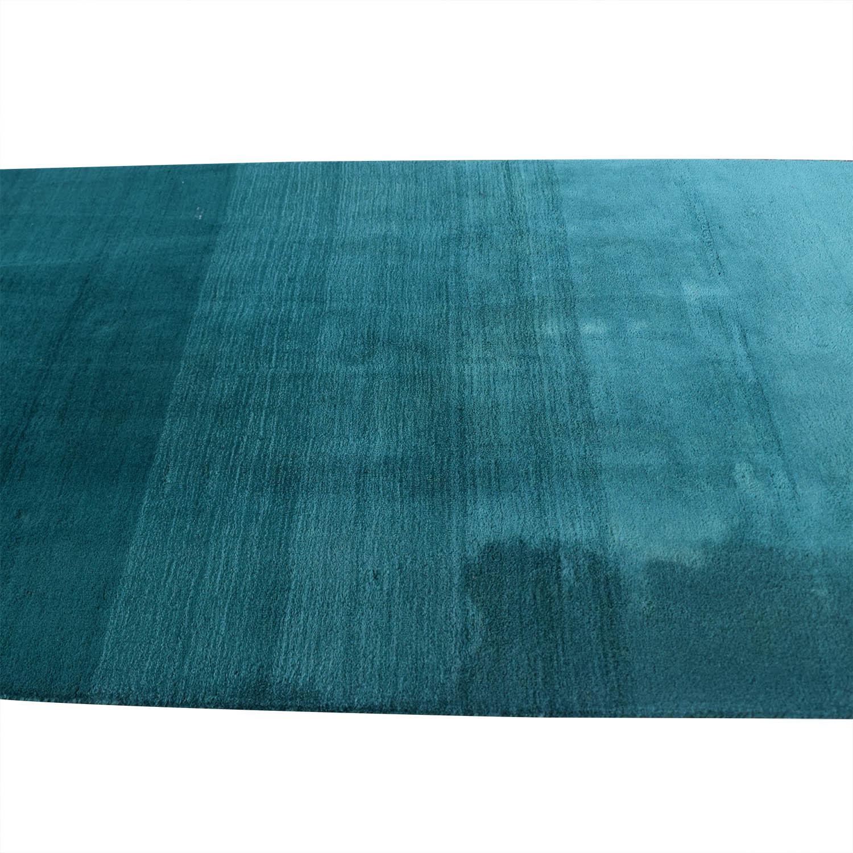 CB2 CB2 Ombre Teal Aqua Rug Decor