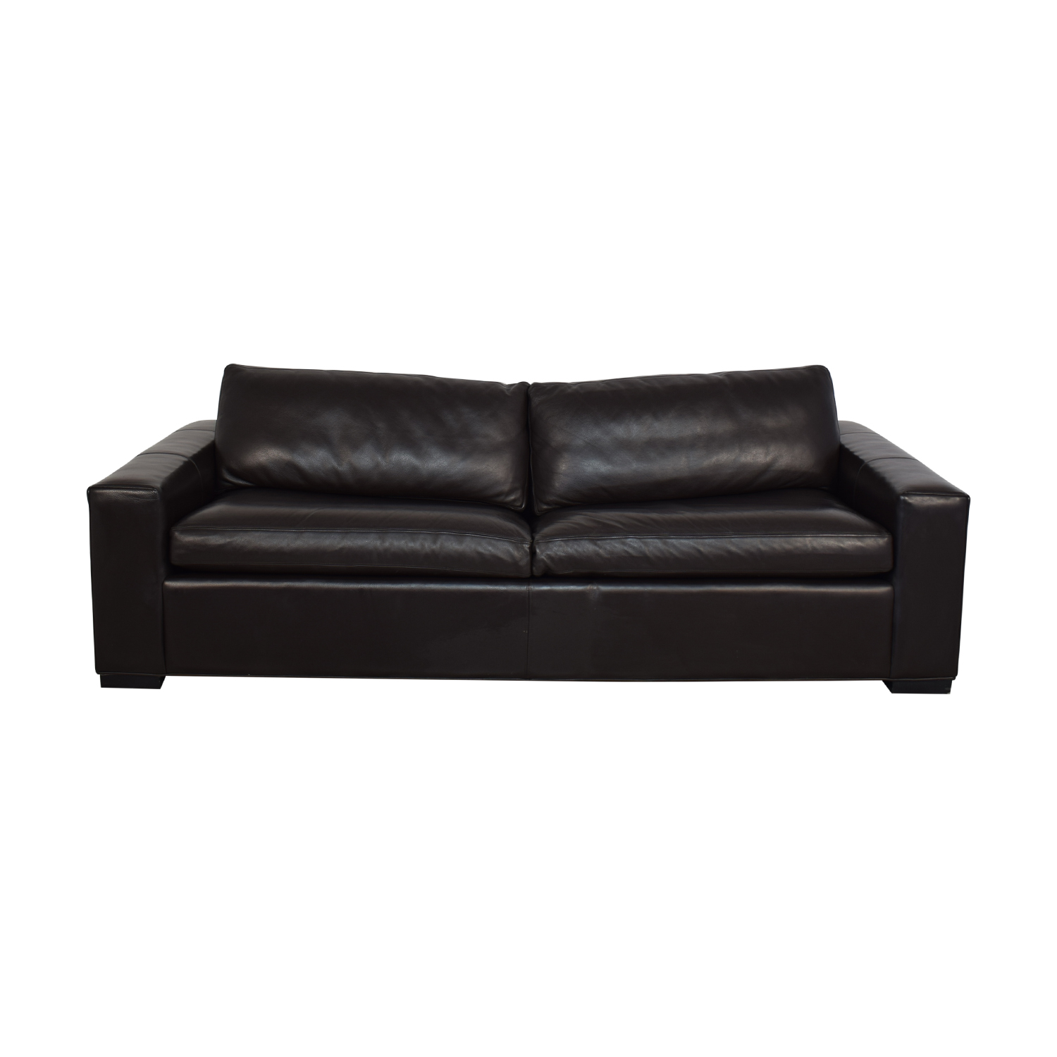 66% OFF - Room & Board Room & Board Leather Sleeper Sofa / Sofas
