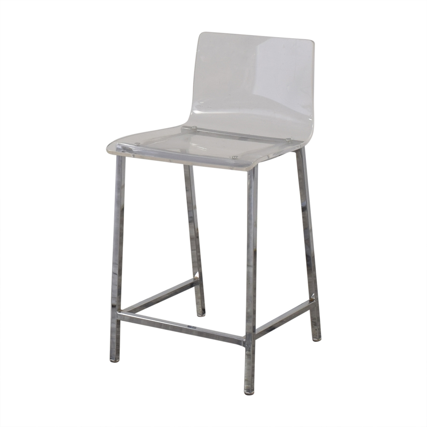 CB2 CB2 Chiaro Clear Counter Stool