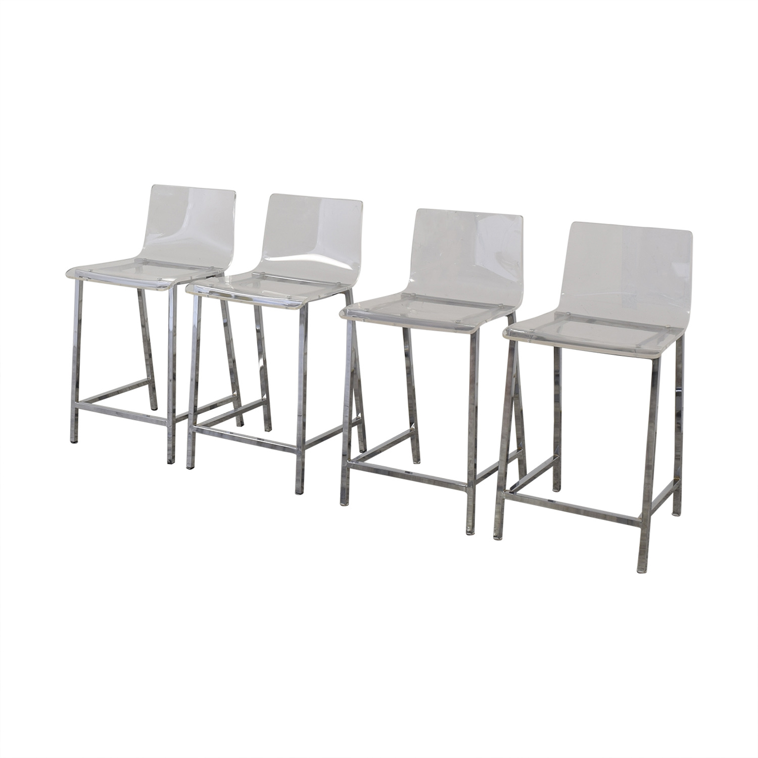 shop CB2 Chiaro Clear Counter Stool CB2 Stools