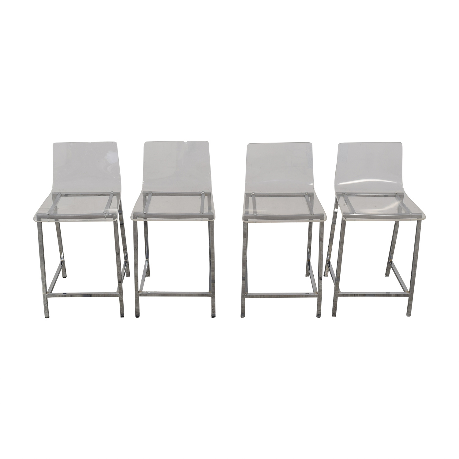 CB2 Chiaro Clear Counter Stool CB2