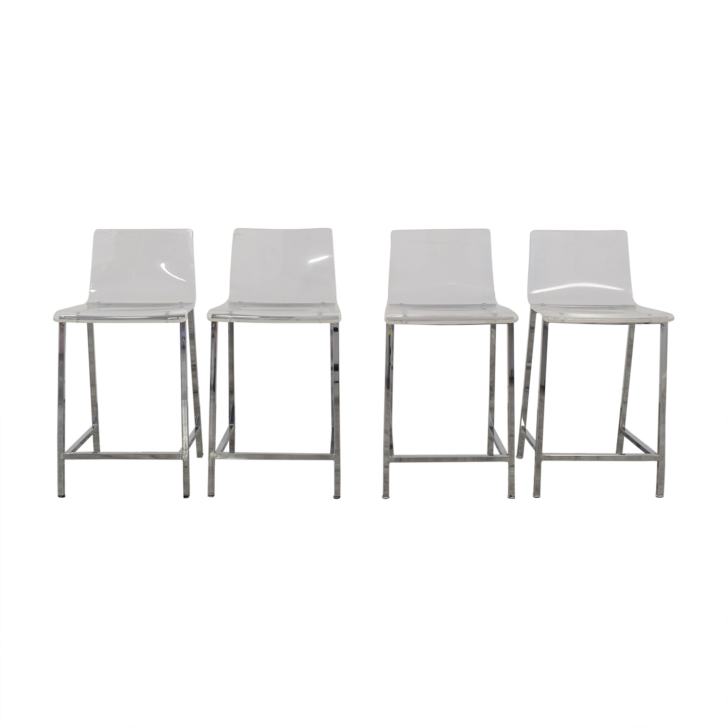 CB2 Chiaro Clear Counter Stool / Chairs