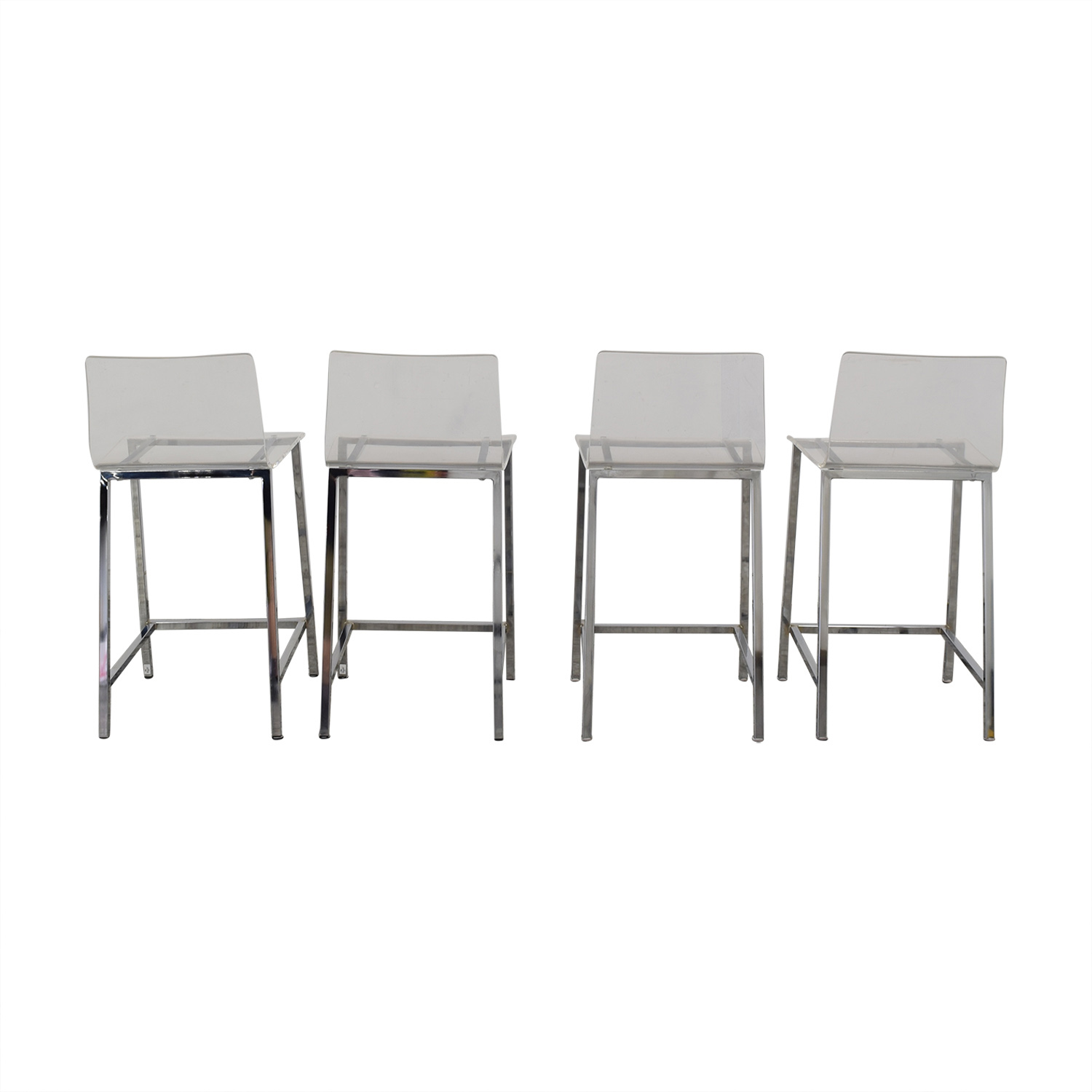 shop CB2 Chiaro Clear Counter Stool CB2