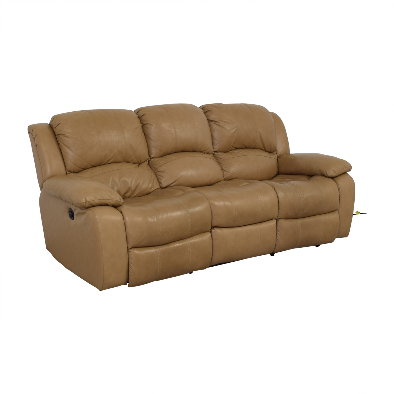 Raymour & Flanigan Raymour & Flanigan Bryant II Leather Power Reclining Sofa nj