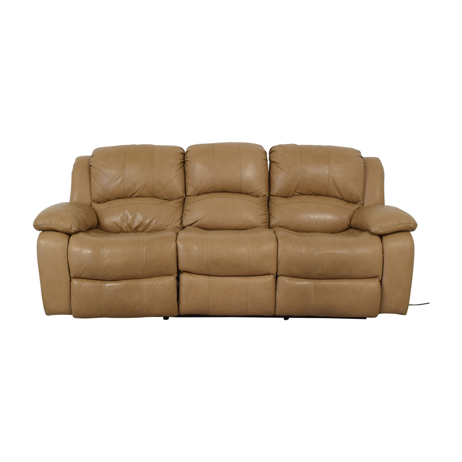 Raymour & Flanigan Raymour & Flanigan Bryant II Leather Power Reclining Sofa nj