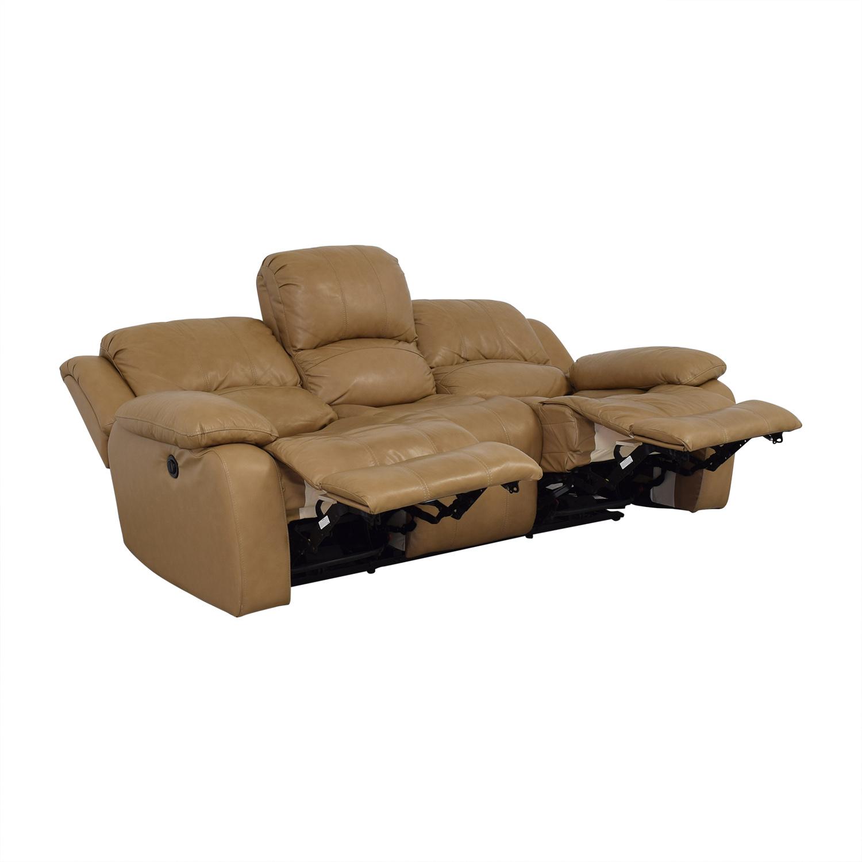 Raymour & Flanigan Raymour & Flanigan Bryant II Leather Power Reclining Sofa discount