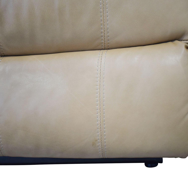 Raymour & Flanigan Raymour & Flanigan Bryant II Leather Power Reclining Sofa nyc