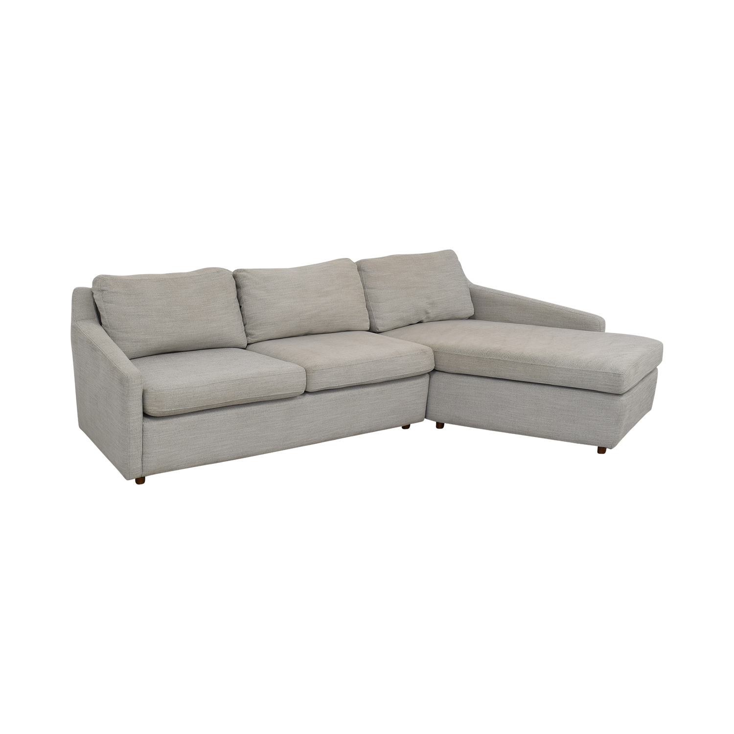 West Elm West Elm Trapez Chaise Sectional Sofa nj