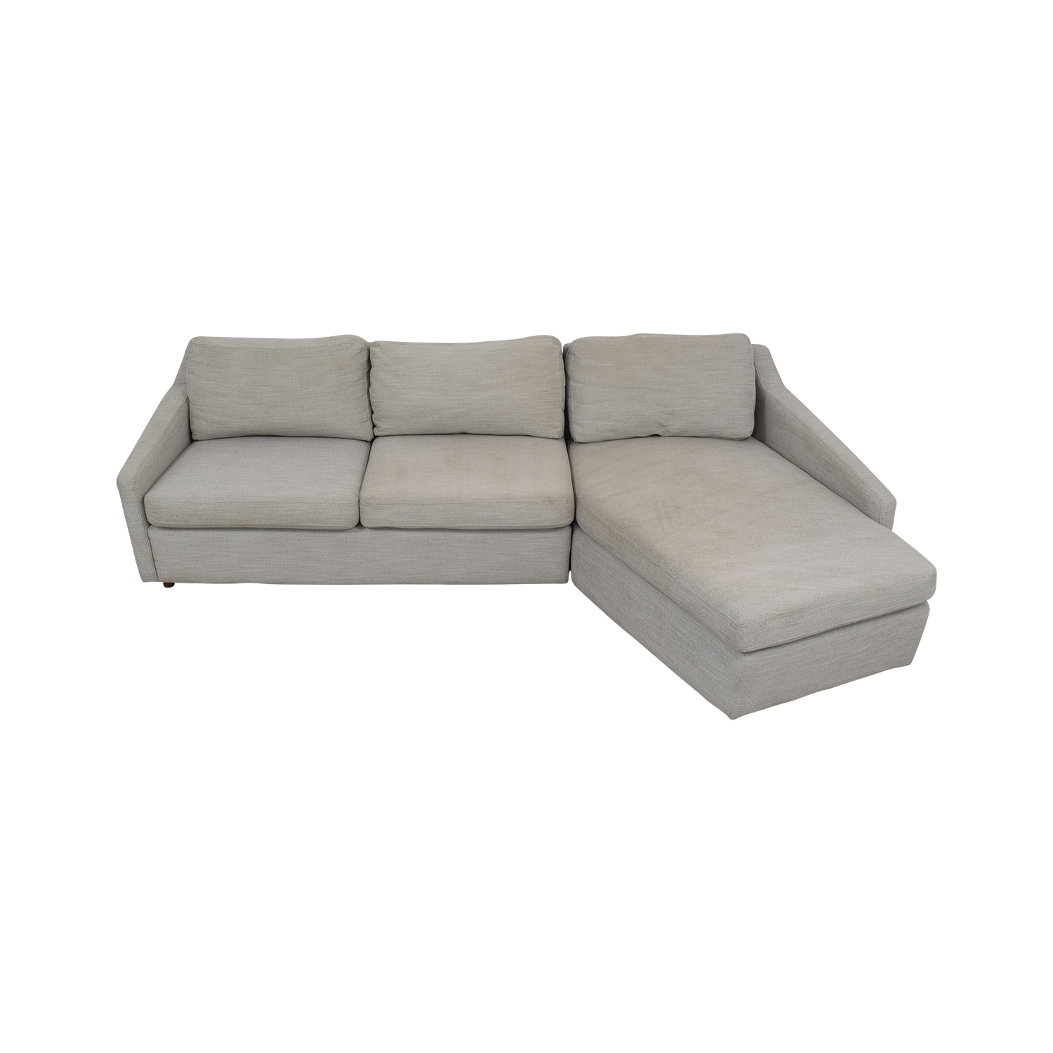 buy West Elm Trapez Chaise Sectional Sofa West Elm Sectionals
