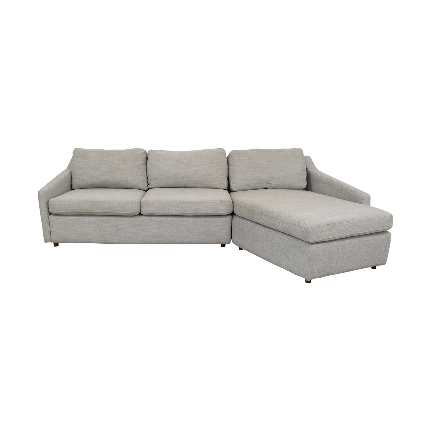 West Elm West Elm Trapez Chaise Sectional Sofa on sale