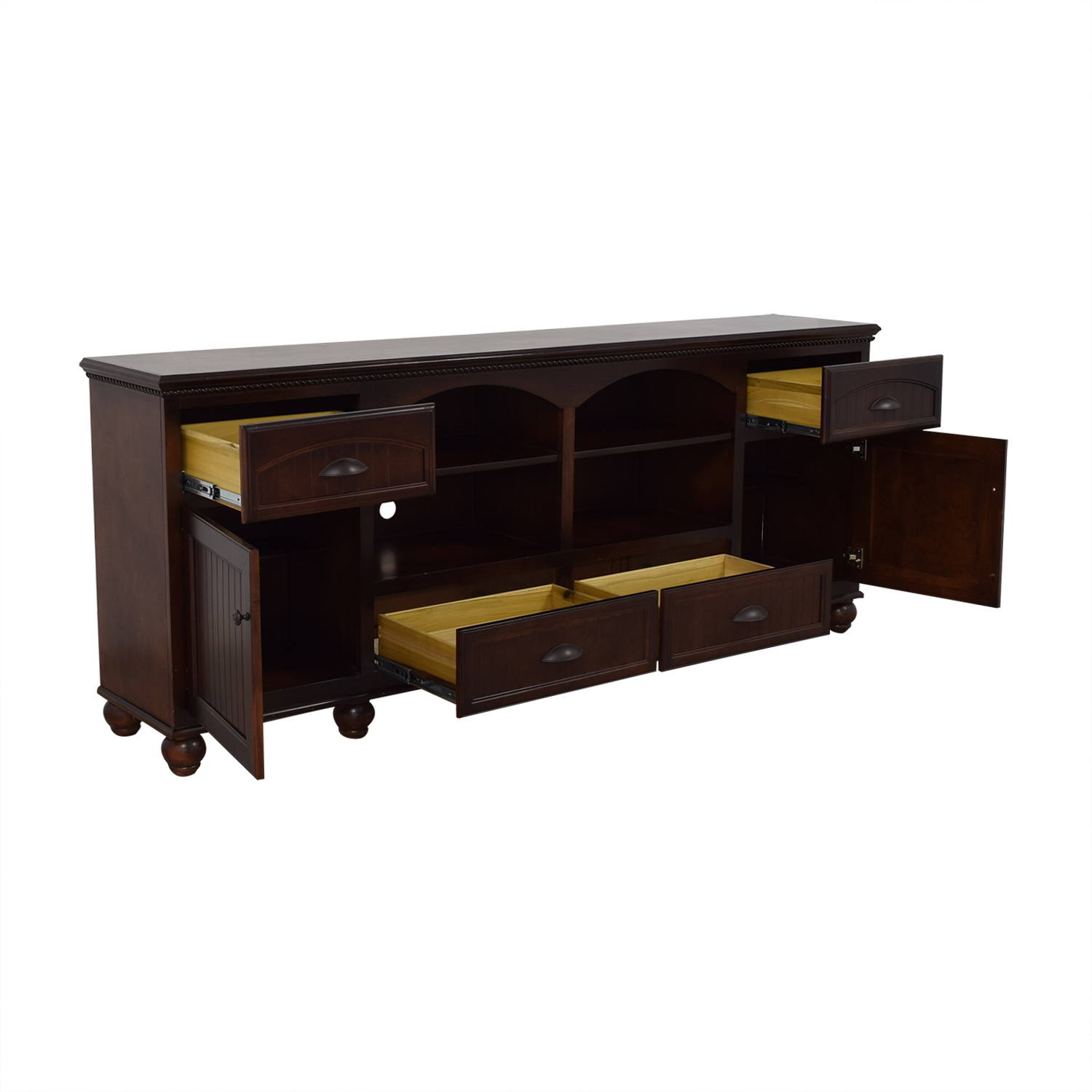 shop Overstock TV Stand with Cabinets and Drawers Overstock