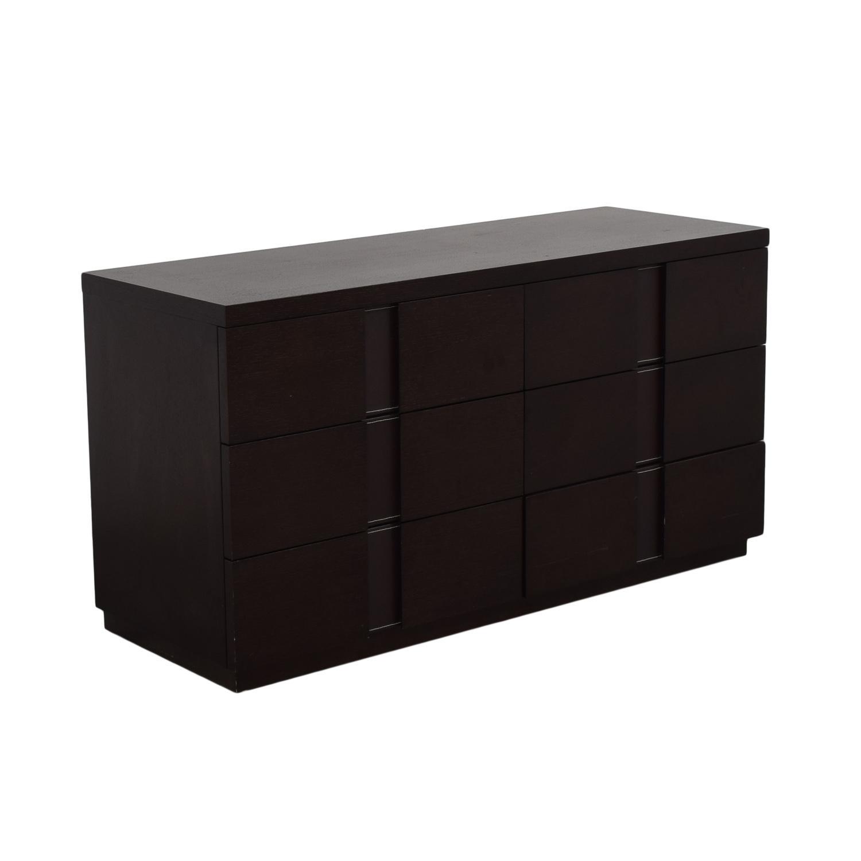 J&M Furniture J&M Furniture Six Drawer Dresser dark brown
